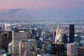 Картинка bridge, new york, river, Chrysler Building, city, lights, огни, Город, здания, sky, houses, река, облака, ...
