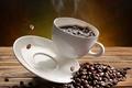 Картинка зёрна, кофе, чашка