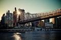 Картинка мост, город, утро, мегаполис, New York, NYC, Queensboro bridge, USА