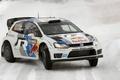 Картинка Зима, Volkswagen, Машина, Поворот, WRC, Rally, Polo, С. Ожье, Д. Инграссиа