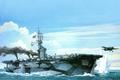 Картинка ( CVE - 73 ), рисунок, USS GAMBIER BAY, арт