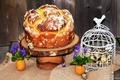 Картинка клетка, пирог, Pie, Baking, Eggs, выпечка, доска, цветы