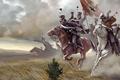 Картинка Казаки, кони, шашки