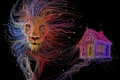 Картинка дом, провода, кабели, лев, usb, шнуры, разъемы