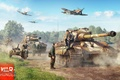 Картинка War Thunder, Tiger II, Planes, Germans, Tanks, Infantry, Art, Video Game, Bf-109