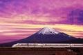 Картинка гора, Электричка, япония