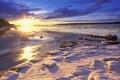 Картинка Солнце, снег, зима