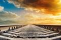 Картинка макро, широкоформатные, широкоэкранные, фон, природа, HD wallpapers, обои, background, полноэкранные, небо, wallpaper, рельсы, облака