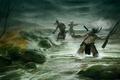 Картинка Empire: total war, тропа войны кампания, индейцы, борьба, речка