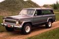 Картинка 1976, фон, Чероке, Jeep, дорога, Джип, Cherokee, передок, холмы, внедорожник, Chief