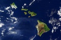 Картинка облака, Гавайи, вид со спутника