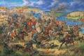"""Картинка холст, 1362 год"""", художник А.Орленов, масло, картина, """"Князь Данила Острожский в битве на Синих Водах"""