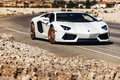 Картинка Lamborghini, Power, Front, White, LP700-4, Aventador, Road, Supercar, Wheels, Desert, B-Forged