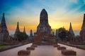 Картинка Таиланд, руины, храм, будда, небо, Аюттхая, Wat Chai Wattanaram, облака
