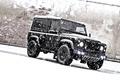 Картинка джип, kahn, ленд ровер, снег, land rover defender, tuning, внедорожник