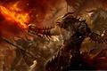 Картинка Guild wars 2, огонь, fire, меч, призыв