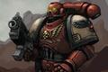 Картинка Warhammer, броня, warhammer40k, Blood Raven, dawn of war, art