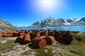 Картинка Utorqarmiut, Ostgronland, бочки, Гренландия, Greenland
