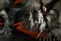 Картинка графика, Чума, Голод, арт, Смерть, Война, кони, всадники апокалипсиса, тьма
