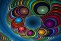 Картинка цвет, форма, Fractal, фон, абстракция
