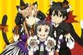 Картинка game, halloween, hat, neko, anime, cat, tail, gothic, pretty, bat, fang, asian, cute, manga, japanese, ...