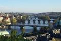 Картинка реку, мосты, через, город, Прага, красивый, Praga, Чехия, вид, панораманый, Влтаву., Czech Republic