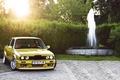 Картинка Coupe, E30, yellow, BMW, бмв, 3 Series, жёлтый, фонтан
