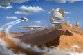 Картинка desert, пустыня, outpost, город