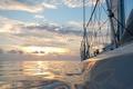 Картинка море, солнце, путь, яхта