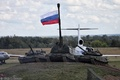 Картинка САУ, Россия, Флаг, Т-80, Мста-С, Танки, Т-90