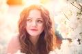 Картинка девочка, макияж, child photography, White Flowers, цветение, улыбка