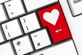 Картинка keyboard, клавиатура, сердце, love, heart, любовь