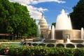 Картинка парк, весна, фонтан, Вашингтон, USA, США, park, Washington, spring, капитолий, architecture, fountain, конгресс