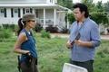 Картинка The Walking Dead, Ходячие мертвецы, Christian Serratos, Rosita, Dr. Eugene Porter, Josh McDermitt