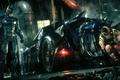 Картинка Arkham Knight, Batman, Batmobile, City, Бетмен