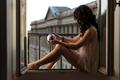 Картинка Alexiane, шар, окно, девушка