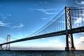 Картинка Мост, вода, горы, небо