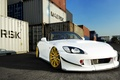 Картинка Car, S2000, Gold, Honda, White, Front, Wheels, Tuning