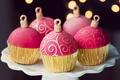 Картинка сладости, боке, праздники, еда, десерт, кексы, тарелка