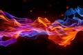 Картинка дым, волны, точки