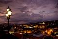 Картинка Грузия, подсветка, архитектура, панорама, город, огни, столица, ночь, фонари, Тбилиси, здания