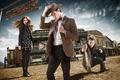 Картинка сериал, вестерн, шериф, Doctor Who, Amy Pond, Карен Гиллан, шляпа, Karen Gillan, Мэтт Смит, Эми ...