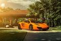 Картинка McLaren, ADV.1, MP4-12C, Sun, Orange, Supercar, Front, Wheels