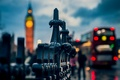 Картинка London, Англия, Лондон, ограда, город, огни, Биг-Бен, вечер, Big Ben, ограждение, England, макро, люди, боке, ...
