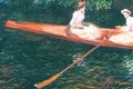 Картинка Клод Моне, жанровая, Розовая Лодка. Гребля на Реке Эпт, картина