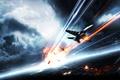 Картинка небо, город, самолеты, Battlefield 3