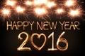 Картинка Happy, Новый Год, салют, огни, New Year, 2016, fireworks, golden