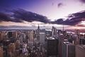 Картинка сша, дома, небоскрёбы, u.s.a., вечер, сумерки, нью-йорк usa, фотографии городов, города, небо, вечерние города, облака
