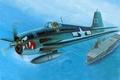 Картинка самолет, истребитель, арт, США, Grumman, F6F-3, палубный, Хеллкэт, WW2., грумман, F6F-3 Hellcat