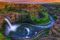 Картинка скалы, водопад, каньон, Palouse Falls